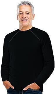 ComfyChemo® CHEMOWEAR : : Men's Long Sleeve Chemotherapy Port Zipper Shirt