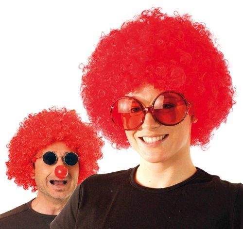 Party Pro- Perruque, Unisexe Adulte, 865505, Rouge, Taille Unique