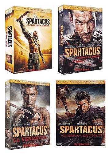 SPARTACUS - SERIE COMPLETA (16 DVD) - STAGIONI DA 1 A 3 + GLI DEI DELL'ARENA - 4 COFANETTI ITALIANI