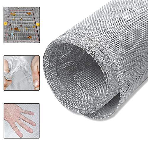 LZQ Aluminium Insektenschutz Gaze Fliegengitter Gewebe Alu-Gitter, robust, widerstandsfähig, Silber, ideal für Lichtschächte 100 x 250 cm