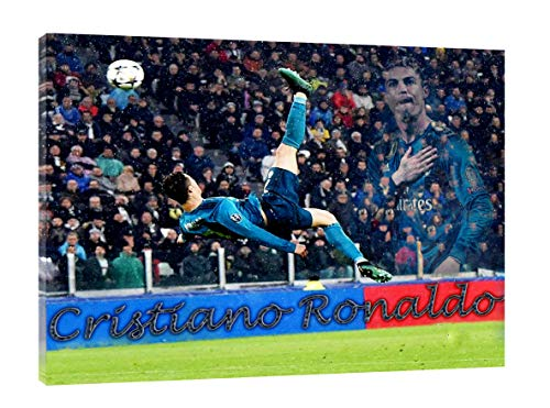 Cristiano Ronaldo Football Best Skills Picture Print On Framed Canvas Wall Art Decoration 20'' x 12 inch -18mm depth