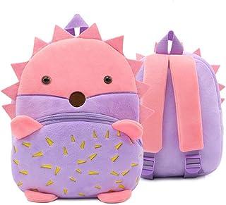 Mochila para niños pequeños, mochila de guardería, mochila de peluche, mochila de dibujos animados, mini mochila de preescolar para niños pequeños, para niñas de 1 a 3 años