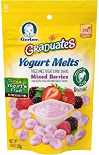 Gerber Graduates Yogurt Melts, Mixed Berry, 1 Ounce (Pack of 4)