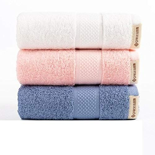 HXOUDAN 3 stuks 34 x 74 cm badhanddoek, waterabsorberend, van katoen, badkamer, keuken, gezicht, handdoeken, douchehanddoeken, reizen, hotel voor volwassenen en kinderen