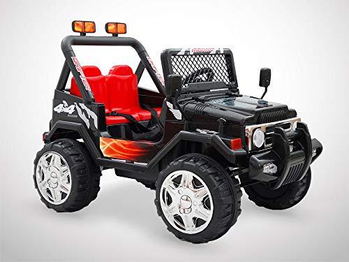 Kingtoys - Auto elettrica per bambini, 4 x 4, 70 W, colore: Nero