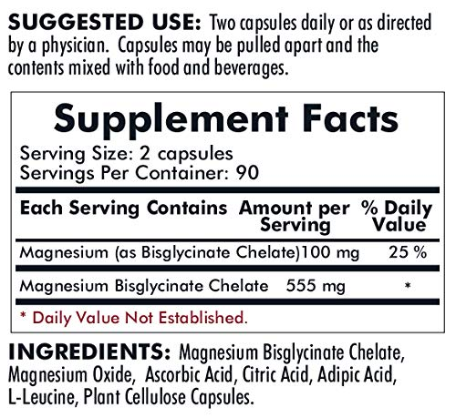 Kirkman Magnesium Glycinate Buffered Chelate Capsules | Gluten Free | Casein Free
