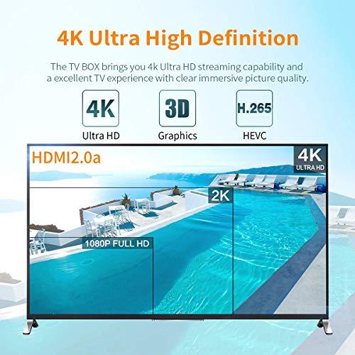 GT MEDIA GTT-2 DVB-T/T2 Receiver 4K Android 6.0 TV Box DVB-C Receiver Kabelreceiver, Amlogic S905D 2GB RAM+8GB ROM Quad-Core H.265 HEVC MPEG-2/4 WiFi 2.4Ghz PVR Smart TV Box