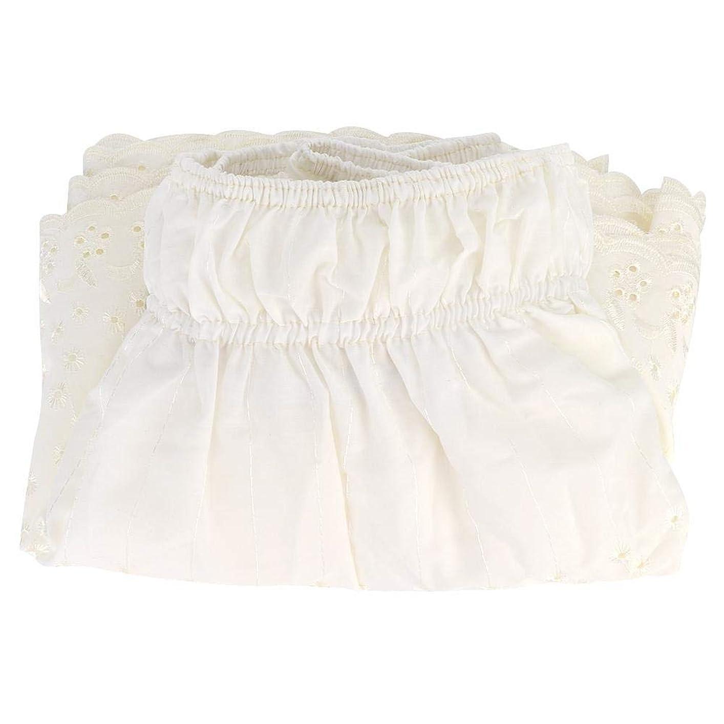 ふさわしい経験的コテージSalinr ベッドスカート 弾性ラップアラウンドベッドスカート 刺繍スタイルの弾性ダストラッフルラップアラウンドベッドスカート、イージーオン/イージーオフダストラッフルベッドスカート(150*200cm)