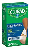 Curad Flex-Fabric, 3/4 Inches X 3 Inches bandages, 30 Count (Pack of 6)