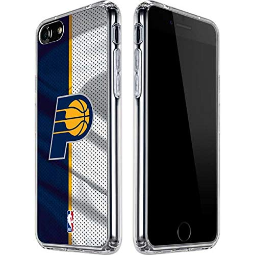 Skinit Clear Phone Case Compatible with iPhone SE - Officially Licensed NBA Indiana Pacers Away Jersey Design