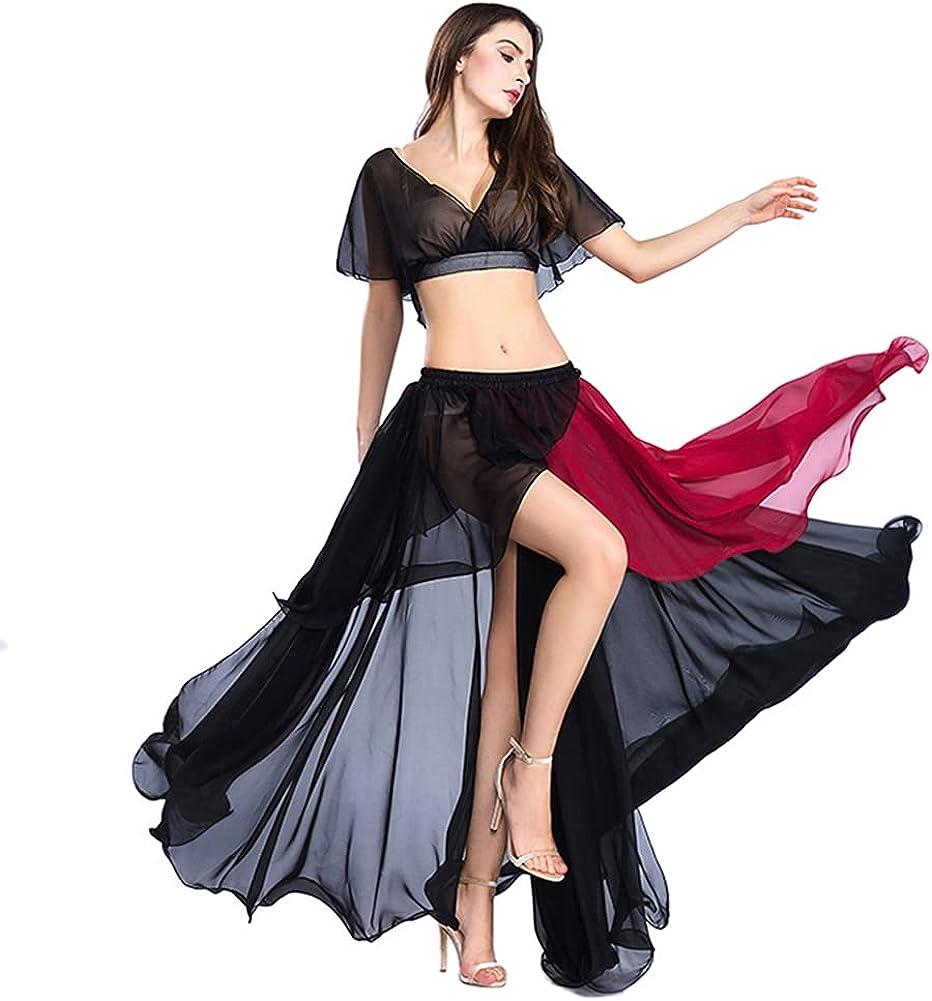 ROYAL SMEELA Belly Dance Costume Set for Women Chiffon Belly Dan