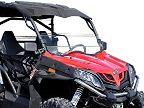SuperATV Heavy Duty Scratch Resistant Clear Half Windshield for CFMOTO ZForce 800 EX / 500/800 Trail / 1000 (2014+) - Hard Coated for Extreme Durability - Installs in Minutes!