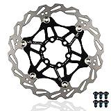 Rotor de Freno de Disco de Bicicleta de Acero Inoxidable, 160 mm Flotante accesorios de Bicicleta para para la mayoría de las bicicletas de carretera Bicicleta de montaña BMX MTB, con 6 Tornillos