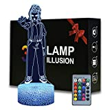3D Illusion Eleven Figurine Night Light , 16 Colors Changeable Desk Lamp with Remote Control Kids Bedroom Decoration, Creative Lighting for Kids Birthday Christmas Gifts (Eleven)