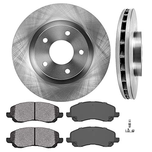 CRK13084 FRONT 294 mm Premium Grade OE Brake Rotors Metallic Brake Pads Kit