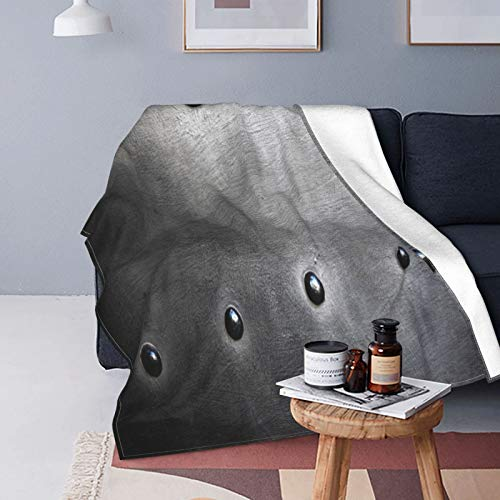 Kgblfd Ultra-Soft Micro Fleece Blanket,Black Metal Plate Or Rivets,Home Decor Warm Throw Blanket for Couch Bed,60'X 50'