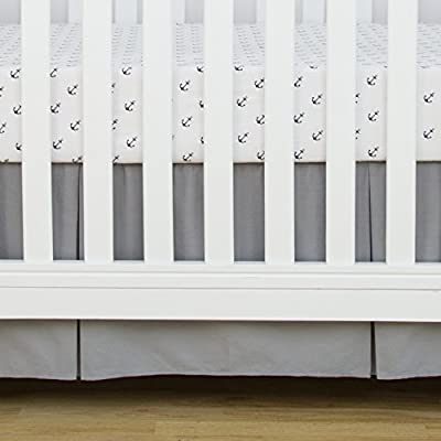 TILLYOU Pleated Crib Bed Skirt