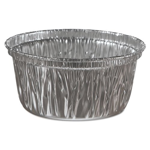 Handi-Foil Aluminum Baking Cups, 4 oz, 3 3/8 dia x 1 9/16h - 1000 containers per case.