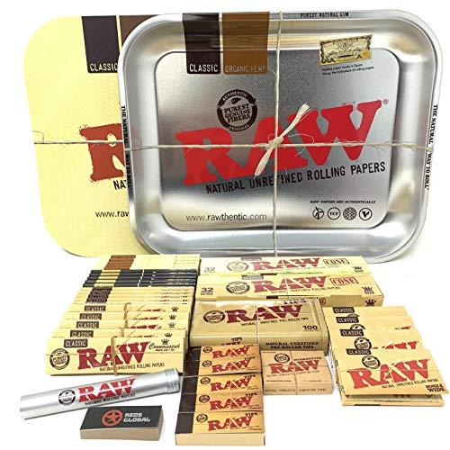 Reds Brand - Juego de bandejas RAW Tapa Magnetica, plateado Metálico