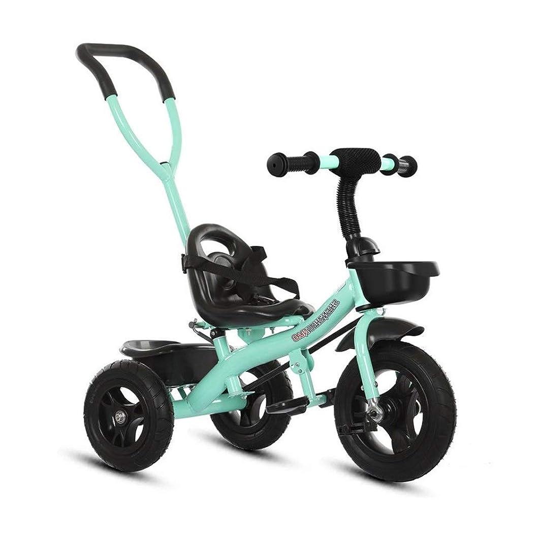 論争的肌ラップ折りたたみ三輪車自転車自転車誕生日ホリデーギフト1-6歳の男性と女性の赤ちゃん屋内屋外スマートロッド付き (Color : Green)