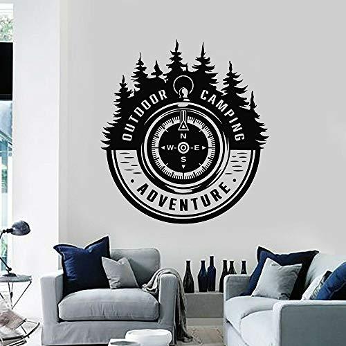 BFMBCH Abenteuer Wort Reise Baum Wandaufkleber Outdoor Camping Arbeitszimmer Schlafzimmer Wohnzimmer Home Wohnzimmer Dekoration Wandaufkleber A3 42x46 cm