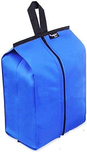 Portable Nylon Travel Shoe Bags with Zipper Blue