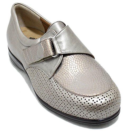 Alviflex 7926 - Zapatos beig Cerrados de Ancho Especial y Plantilla Extraible - Beig, 42
