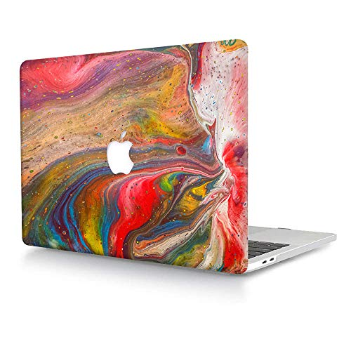 ACJYX Compatible with MacBook Air 13 inch Case Models: A1369 & A1466 Older Version 2010-2017, Plastic Protective Hard Shell Case Cover for MacBook Air 13.3 - Coloured Marble