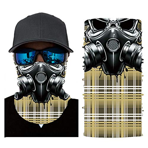 DeHolifer Unisex Multifunktionale faceshield gedruckt Bandanas Multifunktionstuch, Wahl Kopftuch, Stirnband, Motorrad Bandana, Kopftuch