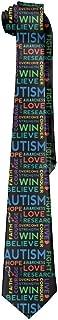 Autism Awareness Men's Polyester Silk Tie Neckties Neck Ties