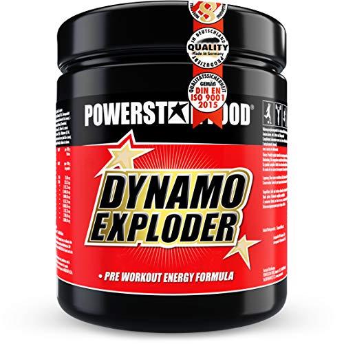 DYNAMO EXPLODER | Premium Fitnessbooster für mehr Kraft, Fokus und Wachheit mit Koffein, Guarana, Taurin, Magnesium, Vitaminen & unserer Spezialmatrix | Fresh Lime | 500g | MADE IN GERMANY