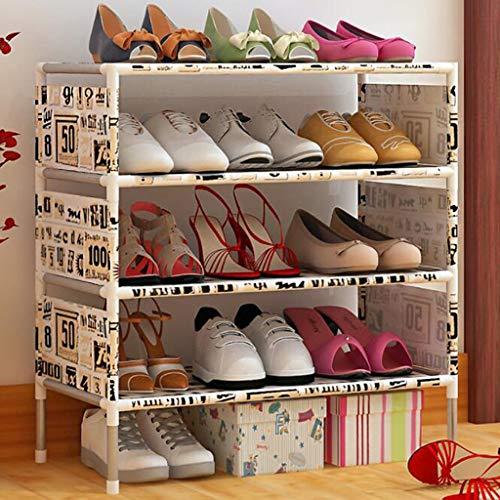 XBDD Zapatero moderno con 5 niveles, organizador de zapatos para 15 pares de zapatos en armario, entrada, pasillo, 57,5 x 26 x 64 cm (color: B)