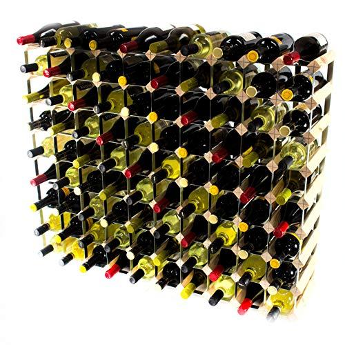 Cranville wine racks Madera de Pino 90 Botella clásico y Metal autoensamblaje Estante del Vino galvanizado