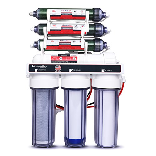 LiquaGen - Heavy Duty & High Capacity 7-Stage Aquarium Reef and Deionization Reverse Osmosis Water Filter Systems RO/DI | 0 PPM - 100 GPD