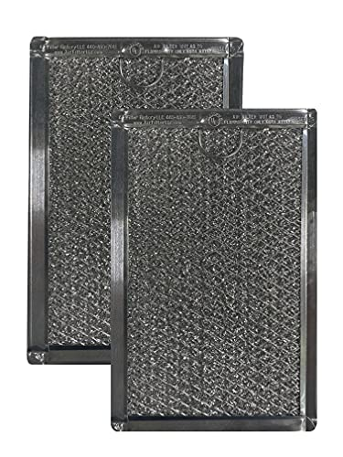 2 Pack Air Filter Factory Replacement For Magic Chef 3511900200, 3511900800 Microwave Oven Aluminum Grease Filter