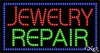 17x 32x 1インチジュエリー修復アニメーション点滅LEDウィンドウサイン