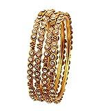 Touchstone Bangle Collection exklusiv kreiert traditionelle filigrane Arbeit charmanten Look Designer Schmuck Metall Armreifen Armbänder für Damen 2.5 Antique Gold-Ton