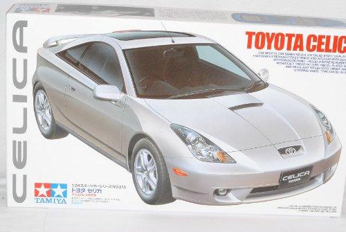 Tamiyia Toyota Celica Coupe Silber T23 1999-2005 24215 Kit Bausatz 1/24 Modell Auto mit individiuellem Wunschkennzeichen