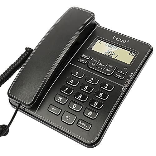 Teléfono de sobremesa, teléfono fijo con cable para el hogar/hotel/oficina, volumen de...