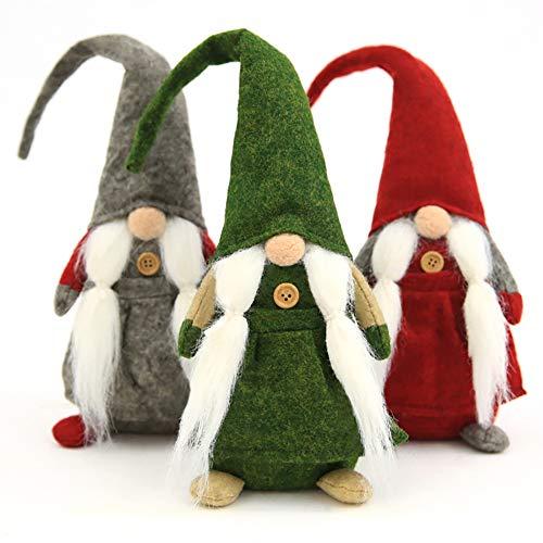 Iris Fairy Natale Decorazioni Santa Peluche Senza Volto Lunghe Gambe Bambole Giocattoli Regalo Ciondolo per Finestra Bambola Borsa del Vino Christmas Decor 3pcs