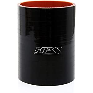 65 PSI Maximum Pressure Black 6 Length 2.25 ID HPS Silicone Hoses 2.25 ID 6 Length HPS HTSHC-225-L6-BLK Silicone High Temperature 4-ply Reinforced Straight Hump Coupler Hose