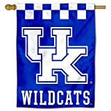 College Flags & Banners Co. Kentucky UK Wildcats Checkerboard Double Sided House Flag