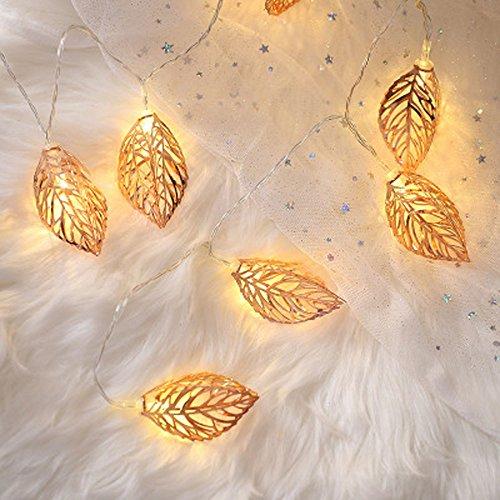 Led Light, 2M 10Led String Lights Iron Leaves Light for Wedding Holiday Wedding
