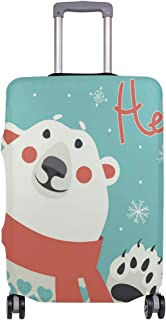 Polar Bear Waving Holiday Traveler Lightweight Rotating Luggage Cover Can Carry With You Can Expand Travel Bag Trolley Rolling Luggage Cover