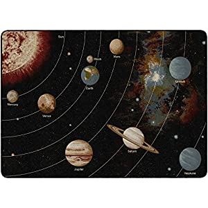 Flagship Carpets FM175-32A Solar System Orbit, Children's Classroom Educational Rug, 5'10″x8'4″, Rectangle