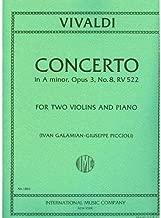 Vivaldi Antonio Concerto in a minor Op. 3 No. 8 RV 522 For Two Violins and Piano. by Ivan Galamian