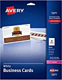 Avery Uncoated Business Cards for Laser Printers, 250 Cards per Pack, Case Pack of 5 (5371)