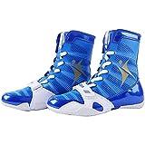 WJFGGXHK Zapatos De Lucha, Botas De Boxeo De Malla Suela De Goma Suela De Lucha para Hombres Y Mujeres Y Niños Niños Adolescentes Unisex,Azul,38
