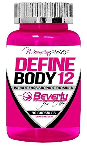 DEFINE BODY12, Quemagrasas, perdida de peso y de masa grasa, eficaz y de calidad 90 capsulas WOMAN SERIES – BEVERLY