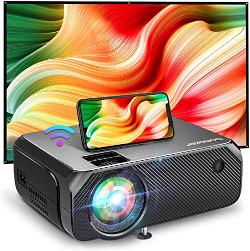 Bomaker WiFi Mini Projector, Native 1280x720P HD Portable Projector for Outdoor Movies, Wireless Outdoor Movie & Gaming WiFi Projector, for Android, Laptop, PS4, TV Stick, DVD Player